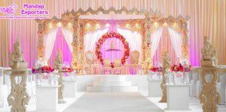 Designer Wooden Mayuri Wedding Mandap Set