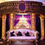 Glam Western Wedding Reception Stage Decor