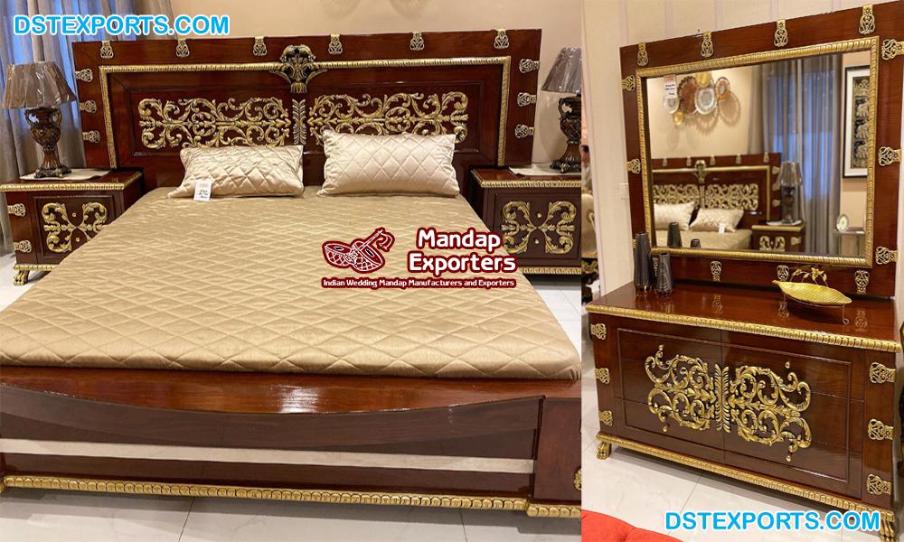 Italian Luxury Hand Carved Bedroom Furniture Mandap Exporters