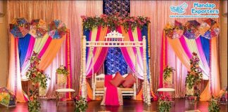 Magnificent Wedding Colorful Mehndi Stage Decor