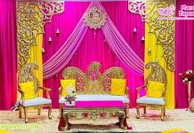 Mango Leaf Style Wedding Bridegroom Furniture