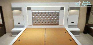 Modern White Finish King Size Bed
