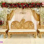 Muslim Wedding Golden Sofa Set for Sale