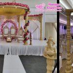 Newly Designed Wooden Mandap For Gujarati Weddings