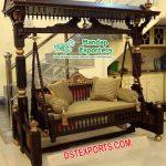 Brown Teak Wooden Indian Indoor Swing