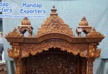 Designer Teak Wood Handcrafted Home Temple