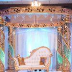 Elegance Round Wedding Ceremony Crystal Mandap