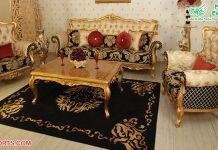 Exclusive Antique Gold Living Room Furniture