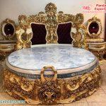 Gold Finish Wooden Carved Bedroom Furniture