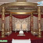 Golden Wedding Bottle Crystal Pillars Maharani Mandap