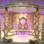 Majestic Heart Shape Wooden Wedding Mandap
