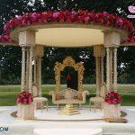 Outdoor Garden Theme Floral Wedding Mandap