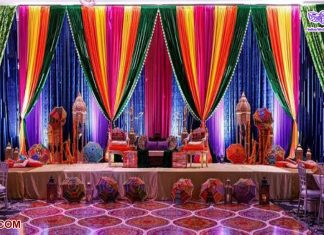Pakistani Heena Party Stage Decoration Backdrops