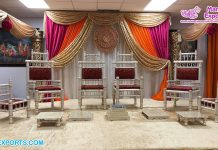Wholesale Wedding Mandap Vidhi Chairs Set