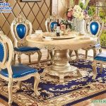 Classic Italian Style Formal Dining Table Set