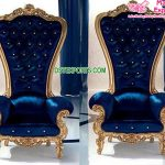 Designer High Back King & Queen Throne Chairs