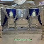 Elegant Wedding Event Stage Silver Furniture