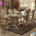European Solid Wood Hand Carved Dining Furniture
