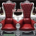 Fancy High Back Wedding Stage Bride Groom Chairs