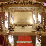 Fancy Wedding LED Lighted Crystal Mandap
