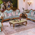 French Style Carving Curve Drawing Room Sofa Set