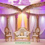Gorgeous Golden Wedding Decorative Mandap
