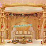 Indian Shahi Wooden Wedding Ceremony Mandap