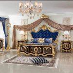 Italian Style Solid Wood Bedroom Furniture Set