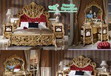 Italian Style Teak Wood King Bedroom Set