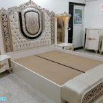 Italian Style White Polished Bedroom Furniture