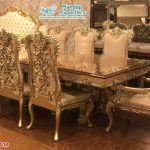 Luxurious Royal Gold Dining Table Set