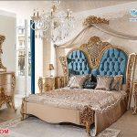 Luxury Antique Gold Carved Bedroom Furniture Set
