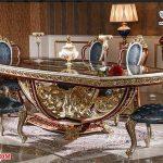 Luxury Teak Wood Italian Dining Table Set