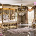 Luxury Victorian Canopy Bedroom Furniture Set