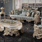 New French Baroque Style Living Room Furniture Set