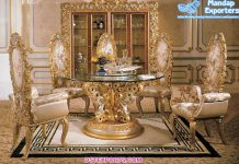 Royal Italian Styled Heavy Carved Dining Set