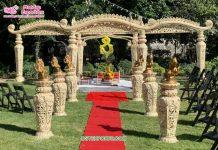 South Asian Wedding Event Mustache Mandap USA