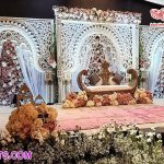 South Indian Wedding Ring Ceremony Stage Decoration
