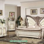 White Finish Butterfly Style Bedroom Furniture Set