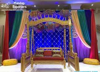 Adorable Mehndi Swing for Stage Decoration