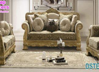 Awesome 5 Seater Solid Teak Wood Sofa Set