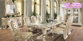 Best Quality Antique Wooden Dining Table Set