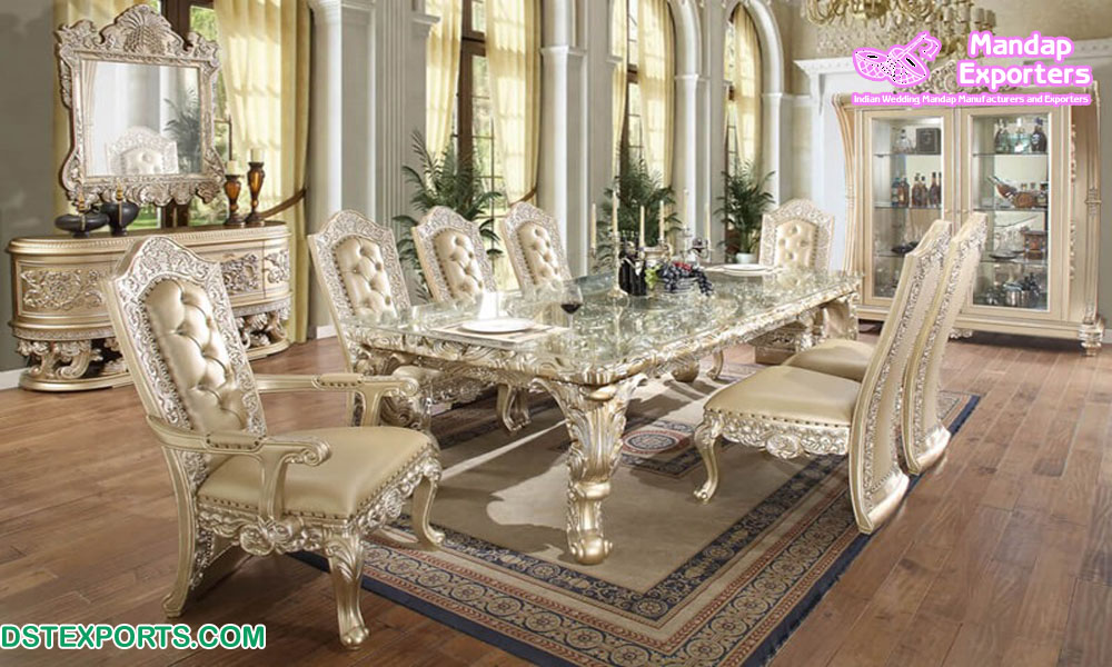 Quality Antique Wooden Dining Table Set, Best Quality Dining Room Furniture Manufacturers