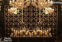 Candle Wall Backdrop for Wedding Night Decor