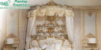 Classical Teak Wood Baroque Queen Bed