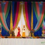 Colorful Backdrops Setup for Punjabi Sikh Wedding