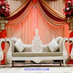 Designer White Finish Wedding Stage Furniture
