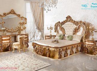 European Heavy Carved Bedroom Furniture Set