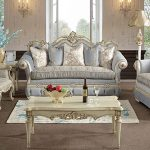 European Style Silver Finish Living Room Furniture