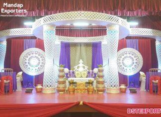 Lighted South Indian Wedding Crystal Mandap
